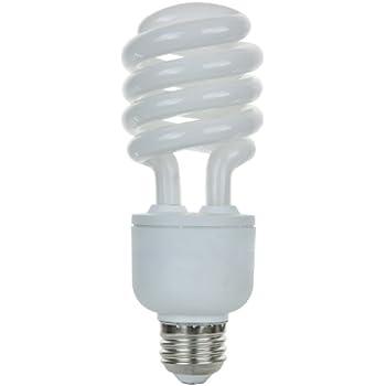 Sunlite SL23/27K/D 23 Watt Dimmable Spiral Energy Saving CFL Light Bulb Medium Warm White