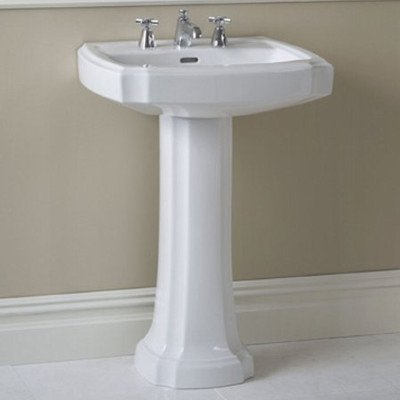 picture of Toto LPT970#11 27-Inch Guinevere Pedestal Lavatory, Colonial White