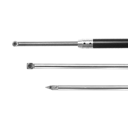 Wood Turning tool Carbide Tipped Lathe Full Size Finisher/Rougher/Detailer Tool Set(3pcs Bar+1pcs Handle) With Round/Square/Diamond Carbide Insert and Screw and Star Key Wrench Review
