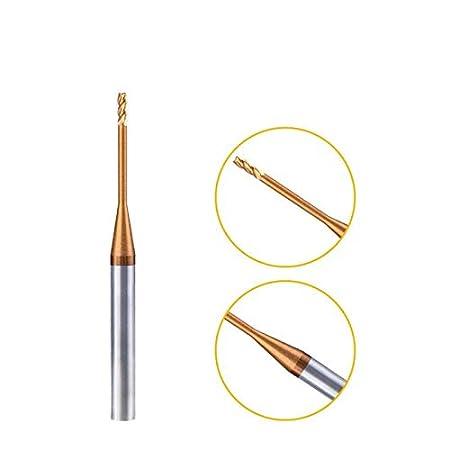 Herramientas LSB 0.6MM 0.7MM 1MM 1.5MM 2MM 3MM 0.8MM 4MM HRC60 4Flutes CNC carburo Cuello Largo Fresas de Extremo Plano Fresas de Acero de tungsteno Fresas Cutting Edge Diameter : 0.2x4Dx50L L1