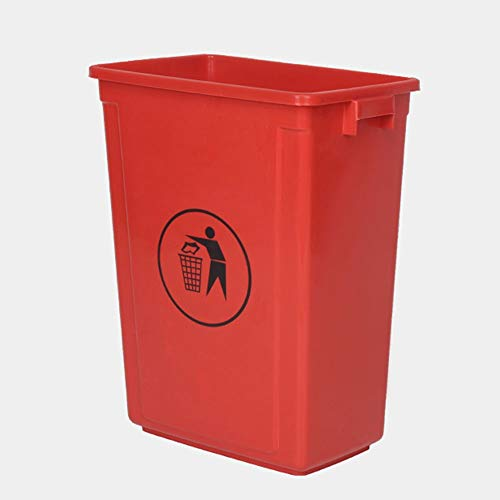 ZA Plastic Waste Container, 60L Commercial Waste Basket, Garbage Can Without Lid, Multi-Color Trash Cans for Garbage Sorting, Outdoor Trash Can (Color : - Basket 60l