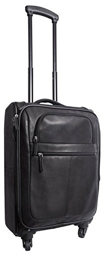 Canyon Outback Romeo Canyon 22-Inch Spinner Carry-On Leather Suitcase, Black, One Size by Canyon Outback