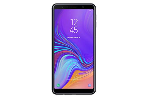 Samsung Galaxy A7 (2018) A750G 64GB Unlocked GSM Dual-SIM Phone Camera Triple 24MP + 8MP + 5MP  International Version, No Warranty - Black