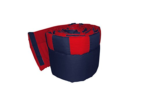 Babykidsbargains Patchwork Perfe Countion Round Crib Bumper, Red/Navy ()