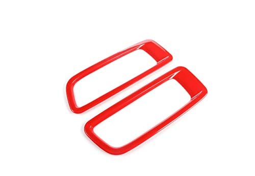 Nicebee 2pcs/Set ABS Car Engine Hood Air Outlet Decoration Trim Cover for Jeep Wrangler JL 2018+ (Red)