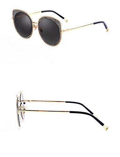 Ojo sol Color Marco X666 de Hueco Gafas sol Retro B Moda Gafas de de Gafas Gato A de Gafas Hqw0aa
