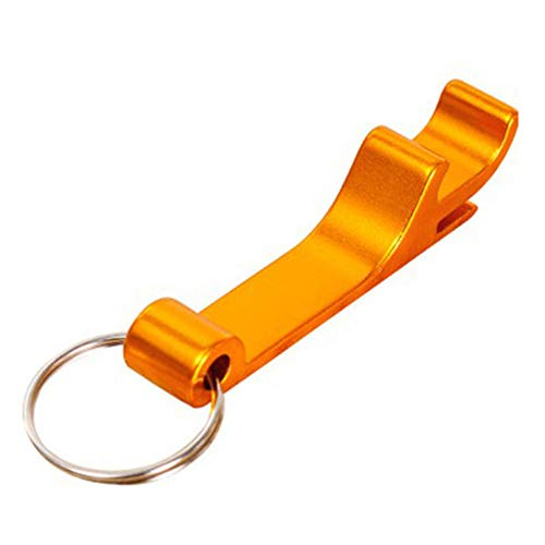Gold Can Opener Manual Keychain Ring Can Bottle Opener Lefty Can Opener Ergonomic Durable Beer Opener