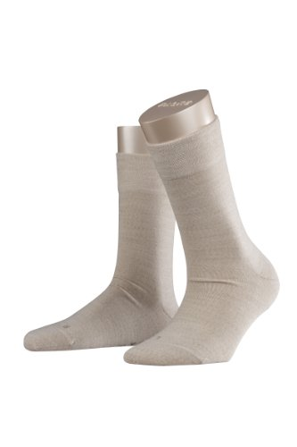 Falke Women's 1 Pair Sensitive Berlin Merino Wool Left and Right Socks 7.5-10 Linen