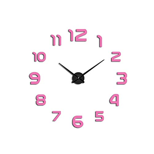 Watch Wall Clocks Horloge 3D DIY Acrylic Mirror Stickers Home Decoration Living Room Quartz ()