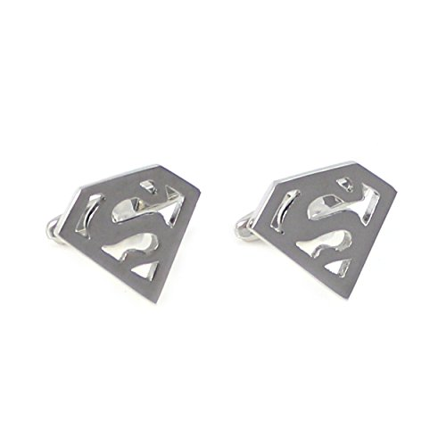 MENDEPOT Marvel Character Logo Cufflinks in Box Comic Symbol Cufflinks with Box (Superman)