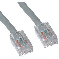 Bootless 100 ft QualConnectTM Cat5e Gray Ethernet Patch Cable