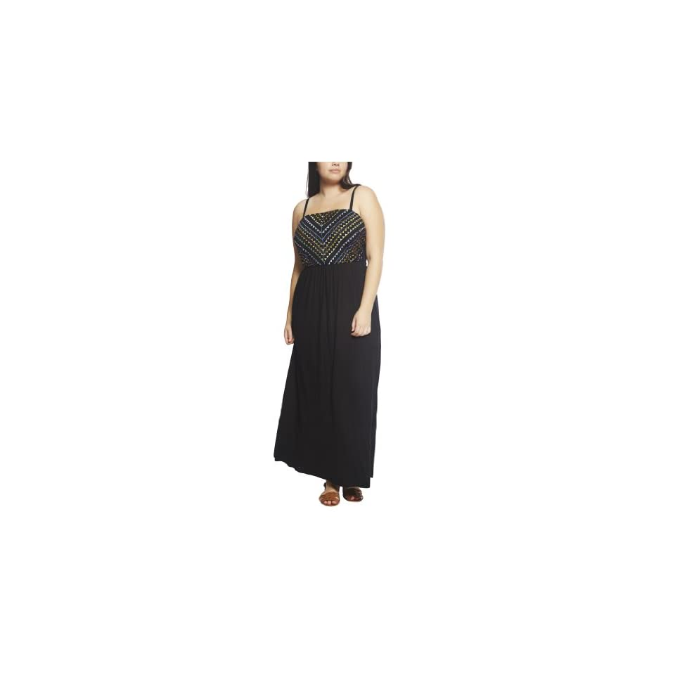 Wet Seal Womens Embellished Bust Knit Maxi Dress
