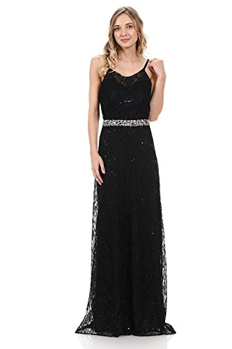 Terani Prom Pageant Dress - TwinMod Sweetheart Sheer Lace A-Line Bridesmaid Prom Dress With Poncho (4XLARGE, BLACK)
