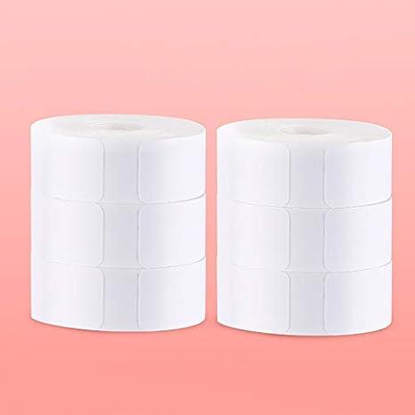 D11 Thermal Label Printer Paper 15/×30mm 6 Rolls, White