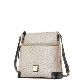 Leather Bourke (Dooney & Bourke Ostrich emb Leather Crossbody)