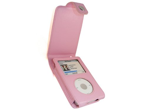 - iGadgitz Pink PU Leather Case Cover for Apple iPod Classic 80gb, 120g & New 160gb launched Sept 09 + Belt Clip & Screen Protector