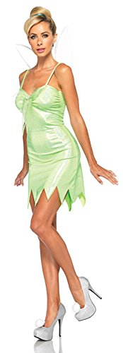 [Leg Avenue Women's Neverland Adult Tink Large] (Fairy Halloween Costumes For Adults)
