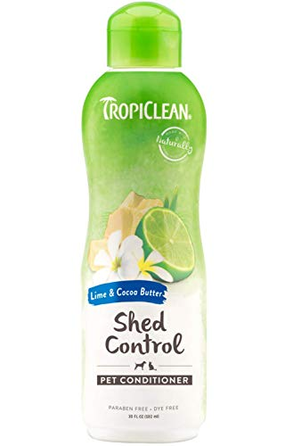 (TropiClean Lime and Cocoa Butter Conditioner for Pets, 20oz, Made in USA )