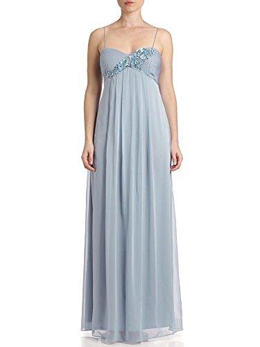 Adrianna Papell Blume Applikation Gewand Maxi Kleid–UK Größe 10-20–Blau