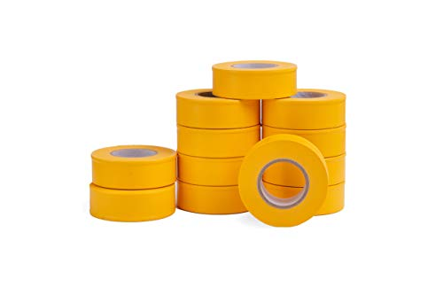 Yellow Flagging Tape - AdirPro 12 Pack Fluorescent Flagging Tape, 150' X 1'' Wide - Multipurpose Neon Marking Tape - Great Visual Labeling & Tagging for Home & Workplace Use (Fluorescent Yellow)