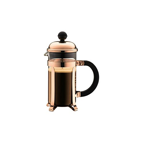 Bodum Chambord Coffee Maker, Copper - 3 Cup - 0.35 L, 12 Oz