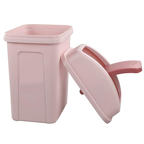Morcte Plastic 10 L / 2.6 Gallon Bathroom Trash Can with Swing Lid, Pink by Morcte