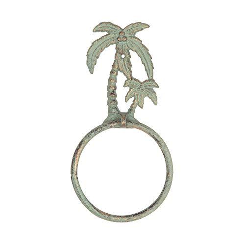 GALLERIE II Decorative Cast Iron Towel Ring - Coastal Decor (Palm Tree) - Palm Trees Coastal Decor