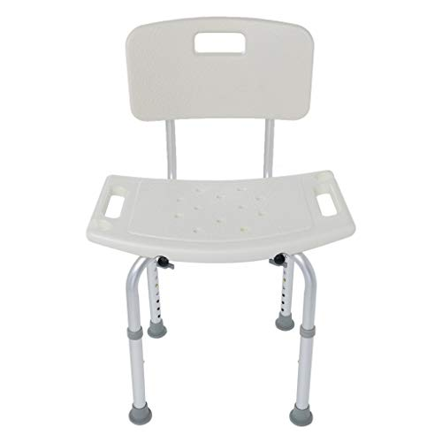Fewear Ship from USA, Adjustable Shower Chair with Back and Arms - Free Suction Assist Grab Bar - Anti-Slip Bench - Bathtub Seat for Bathroom Safety- Plastic Tub Transfer Bench (C)