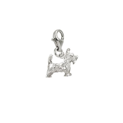 (Rembrandt Charms Scottie Charm with Lobster Clasp, Sterling Silver)