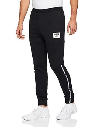 PUMA Men's Rebel Block Pants FL CL, Cotton Black, S