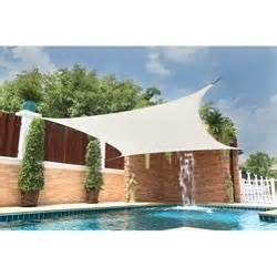 San Diego Sail Shades 20'x20' Square (White) - Heavy Duty Commercial Grade Shade Sail ()