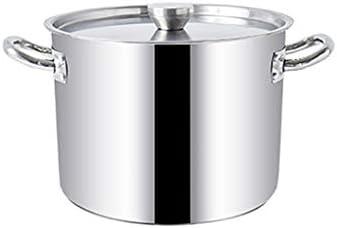 大証券ポット-52.5cm、蓋でプロフェッショナル誘導セーフステンレス鋼証券ポット - スープ、シチュー&キャセロールのためのパーフェクト