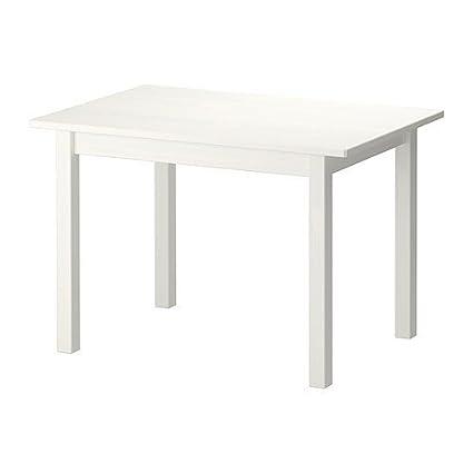 IKEA SUNDVIK mesa infantil de blanco; Madera maciza de pino
