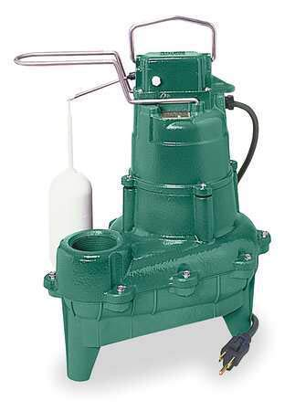 ZOELLER Submersible Sewage Pump,4/10HP,115V,18ft M264 by Zoeller