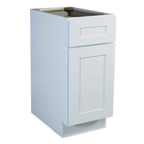 Design House 561324 Brookings 12-Inch Base Cabinet, White Shaker