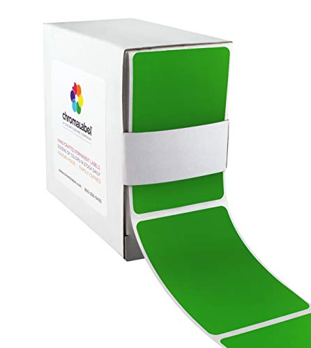 ChromaLabel 2 x 3 inch Color-Code Labels | 250/Dispenser Box (Green)