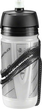 Records Cage - Campagnolo Super Record Bicycle Water Bottle Cage (Black Cage/Clear Bottle - 16 oz)