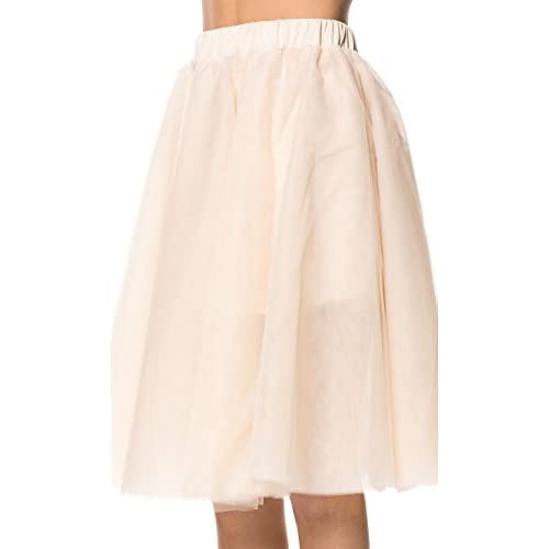 5019c6eeb36da Structured Tulle Midi Skirt in Champagne (Plus Sizes Available) 70 ...