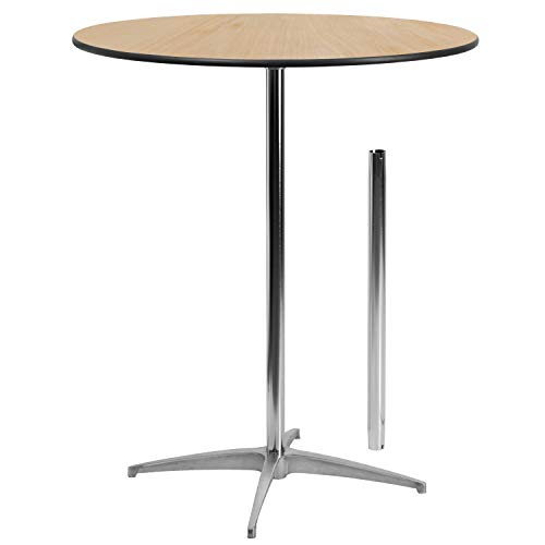 Flash Furniture 36'' Round Wood Cocktail Table with 30'' and 42'' - Top 36 Round