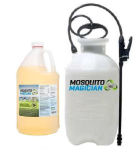 Mosquito Magician Pump Up Sprayer with 1 Gallon Natural Mosquito Killer & Repellent Concentrate by Mosquito Magician