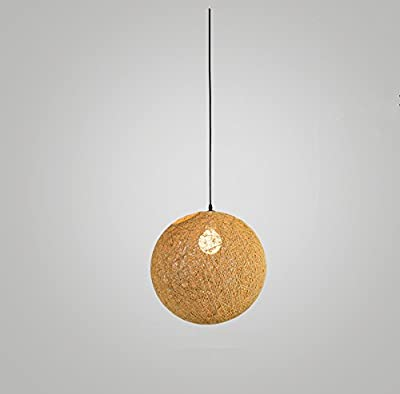 BOKT Modern 1-Light Plug-In Pendant Colourful Lattice Wicker Rattan Globe Ball Style Ceiling Pendant Light Lampshade Black 15 FT Cord In-Line On/Off Switch 11.9 inches