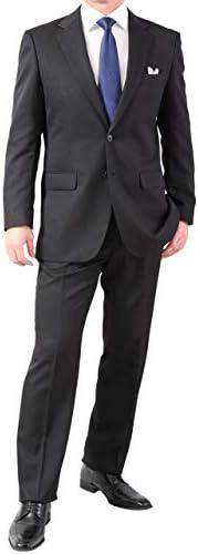 2つボタンスーツ メンズ レギュラーフィット ワンタック スラックスは家庭で洗える簡単メンテナンス なめらか新素材