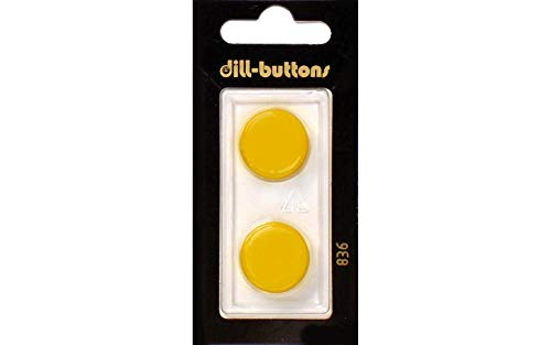 Dill Buttons 19mm 2pc Shank Yellow