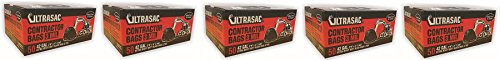 """UltraSac Contractor Bags Value 50 Pack, 42 Gallon, 2'9"""" X 4'"""