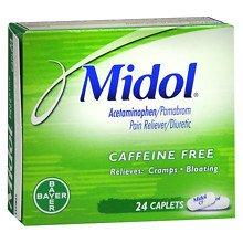 Midol Caffeine Free Caplets24.0 ea 3 Pack