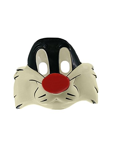 Licensed Vintage Looney Tunes Sylvester Animal Cat Child Costume Mask -
