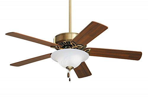 "Emerson CF712AB, Pro Series Antique Brass 50"" Ceiling Fan with Light"
