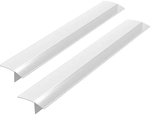 2 Pack Standard 25 Inch Kitchen Stove Gap Filler Cover - Premium Silicone Spill Guard for Stovetop, Counter, Oven, Washer, Dryer, Washing Machine and More, Translucent White, by ITEMporia 317nx1DP6ML