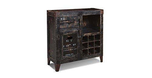 Crafters and Weavers Reclaimed Wood Furniture Graffiti Wine Cabinet