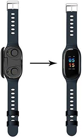 2 en 1 Montre Smart Watch avec Bluetooth,M1 AI Écouteur Montre Intelligente,Etanche TWS sans Fil Bluetooth Moniteur De Fréquence Cardiaque du Sang